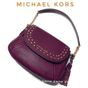 Michael Kors Aria multi wear leather Bag In Damson